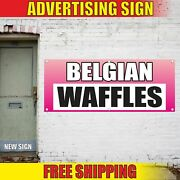 Belgian Waffles Advertising Banner Vinyl Mesh Decal Sign Bakery Cakes Candy Shop