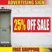 25 Off Sale Advertising Banner Vinyl Mesh Decal Sign Discounts Clearance Garage