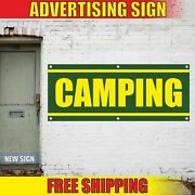 Camping Advertising Banner Vinyl Mesh Decal Sign Sport Summer Now Enrolling Boot