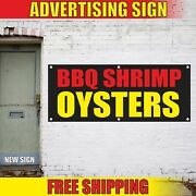 Bbq Shrimp Oysters Advertising Banner Vinyl Mesh Decal Sign Seafood Grill Fair