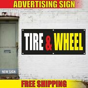 Tire And Wheel Advertising Banner Vinyl Mesh Decal Sign Auto Repair Car Shop Now