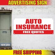 Auto Insurance Free Quotes Advertising Banner Vinyl Mesh Decal Sign Life Health