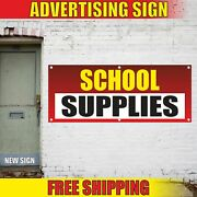 School Supplies Advertising Banner Vinyl Mesh Decal Sign Clothing Shop Store Now
