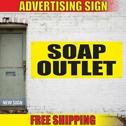 Soap Outlet Advertising Banner Vinyl Mesh Decal Sign Bleach Softeners Laundry