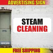 Steam Cleaning Advertising Banner Vinyl Mesh Decal Sign Dry Now Open Laundry New