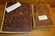 2 Antique Bibles Husband And Wife Oscar Loraine And Maggie H. Childs Philipsburg Pa