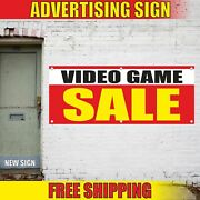 Video Game Sale Advertising Banner Vinyl Mesh Decal Sign Shop Store New Used Off