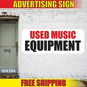Used Music Equipment Advertising Banner Vinyl Mesh Decal Sign Pawn Shop Gear Buy