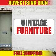 Vintage Furniture Advertising Banner Vinyl Mesh Decal Sign Pawn Shop Antique Now