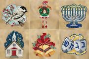 Cross Stitch 2018 Mill Hill Winter Holiday Collection Ornament Set 6 Kits