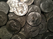 5 Pounds Bag U.s. Junk Silver Kennedy + Franklins Coin All 90 Silver Pre 1965