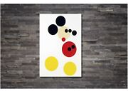 Mickey Edition Damien Hirst Style Canvas Wall Art Print Various Sizes