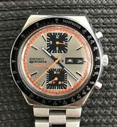 Antique Vintage Rare Seiko Sports Chronograph Watch 1970and039s Overhauled In 2019