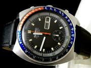 Vintage Rare Watch Seiko Chronograph Inner Diver 6139-6005 Released In 1973