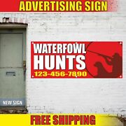Waterfowl Hunts Advertising Banner Vinyl Mesh Decal Sign Duck Fowl Camp Tours