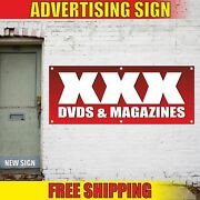 Xxx Dvds And Magazines Advertising Banner Vinyl Mesh Decal Sign Adult Movies Rent