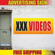 Xxx Videos Advertising Banner Vinyl Mesh Decal Sign Adult Movies Rent Magazines
