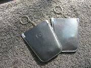 1 Black Vintage Bmw Leather Key Ring Pouch - Classic Car Accessory Germany - Nos