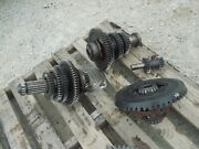 Farmall 340 Tractor Ih Transmission Matched Set Top Bottom Gears Shafts + Pinion