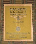 Xrare 1910 Magneto Telephone Apparatus Catalog Phones Pay Phones Switchboards