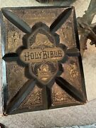 1800s Holy Bible References Parallel New Testament With Over 2000 Illustrations