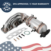 Exhaust Manifold With Catalytic Converter For 2002-2006 Toyota Camry Solara 2.4l