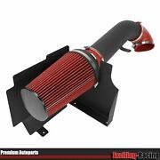 Cold Air Intake Kit Textured Black Pipe Heat Shield For 99-06 Gmc/chevy V8