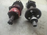 Massey Harris 44 Tractor Mh Belt Pulley Assembly W/ Input Shaft And Drive Gear
