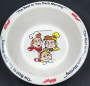 4 Vintage 1995 Kelloggs Cereal Bowls Toucan Sam Snap Crackle And Pop And Corny