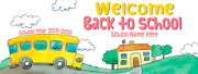 Personalized Welcome Back To School Banner Classroom Decorations Sign 3' X 8'