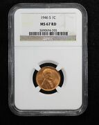 1946-s Shell Casing Lincoln Wheat Cent Ngc Ms 67 Red 9pgb