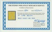 Rare Stamp Australia 4d Lime Yellow Kgv Ascs 110d Mint Hinged With Certificate