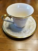 Lenox Meadow Song Footed Cup And Saucer.