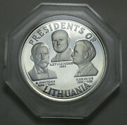 Lithuania Silver Medal 1918-1968 Presidents Franklin Mint