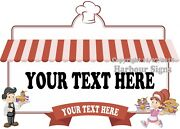 Choose Your Size Custom Catering Food Decal Truck Concession Vinyl Sticker