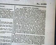 Abraham Lincoln And John Wilkes Booth At Ford's Theatre 1863 Civil War Newspaper