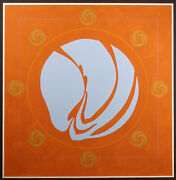 Jack Youngerman Involute - Chinese Orange Signed Numbered Silkscreen Art Obo