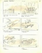 9 Pages 1960s Disney Goofy Heinz Happy Soup Commercial Storyboard Art Ad