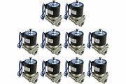 10 X Pv0001 1/2 Npt Electric Stainless Steel Solenoid Air Water Valve Nc 12v Dc