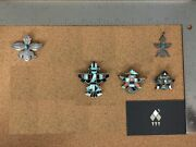 Vintage Native Sterling Silver Kachina Brooch Lot 1 - Sold Individually On Req.
