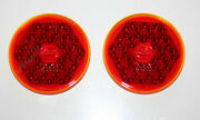 Vw Bug Two Hassia Tail Light Lenses Glass New 1948 - 1952 K1533