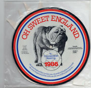U762 Pride Oh Sweet England World Cup 1986 - 7 Inch Picture Vinyl + Rosette