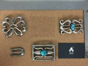 Vintage Native Sterling Silver Belt Buckle Lot 3 - Sold Individually On Request