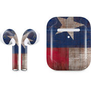 Countries Of The World Apple Airpods 2 Skin - Texas Flag Dark Wood