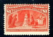 [sr] Us 241 Mint-nh 1893 Classic 1 And039columbian Expoand039 Stamp...clean 2018 Cert.