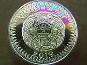2019 Rex Visions Of The Sun Fine Silver High Relief Mardi Gras Doubloon+capsule
