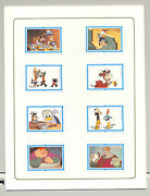 Mongolia 1379-87 Disney 8v Labels Only And Background Imperf Chromalin Proofs