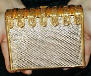 Judith Leiber Crystal Stack Of Books Museum Rep Bag Minaudiere Clutch