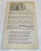 1762 Antique Illustrated Music Sheet///the Man To My Mind