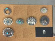 Vintage Southwestern Sterling Silver Concho Brooch Lot 3 - Individually On Req.